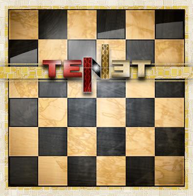 logotipo tenet juego tablero ajedrez