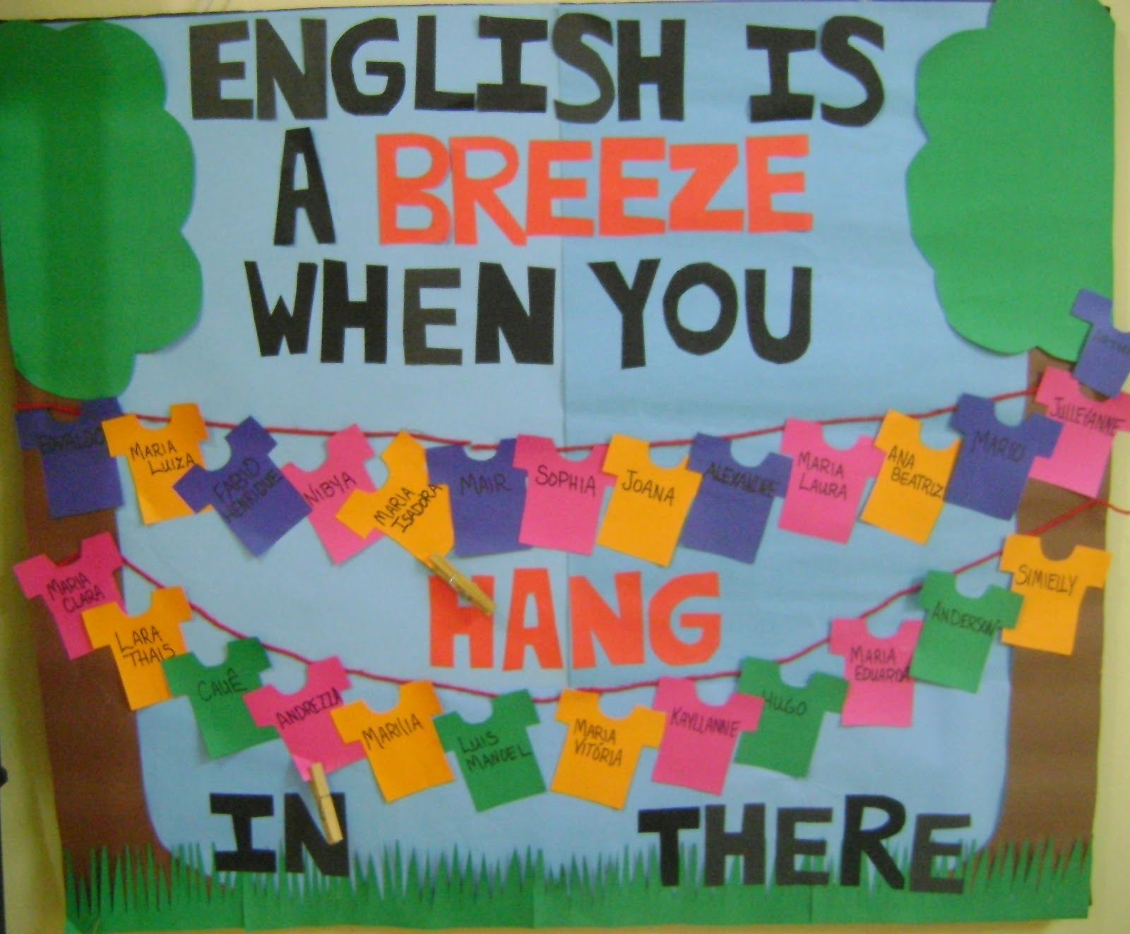 Esl Classroom Door Decoration ~ Soares family in brazil english bulletin board
