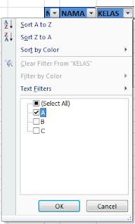 fungsi dari filter di excel