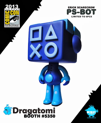 ESC Toy - San Diego Comic-Con 2013 Exclusive PS-Bot Blue Resin Figure by Erick Scarecrow