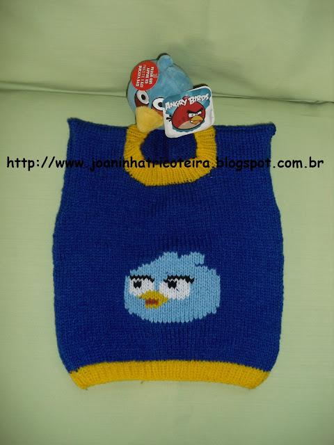 colete Angry Birds em Tricot feito à mão