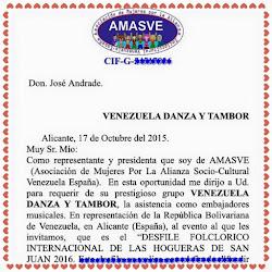 INVITACION COMO EMBAJADORES MUSICALES A ALICANTE ESPAÑA