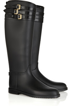 Rainy boots - Gummy boots - Hunter boots - For a rainy weather - black BURBERRY - fancy