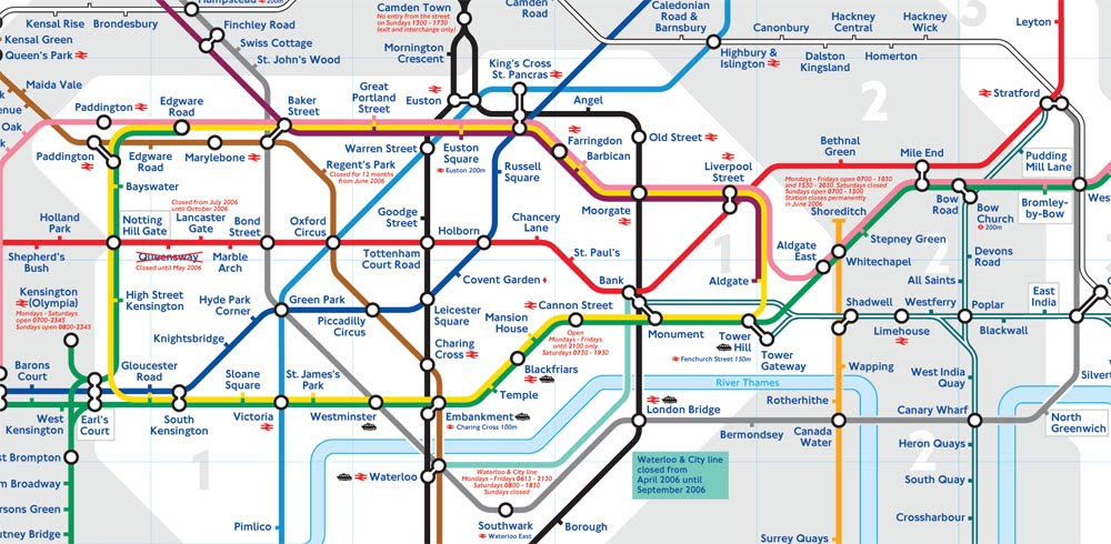 London Underground Map 2011. dresses the London Underground