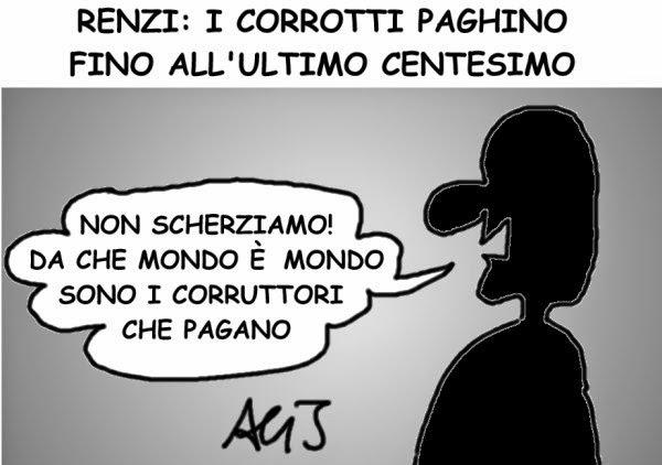 mafia capitale, renzi, corruzione, satira