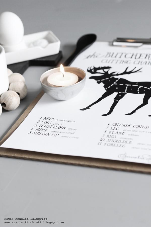 styckningsschema, älg, älgar, vilt, jakt, tavlor, tavla, poster, posters, svart och vitt, svartvit, svartvita, annelies design & Interior, anneliesdesign, kaffe, grafiskt, styckningsdetaljer, inredning, inredningsblogg, blogg, bloggar, webbutik, webbutiker, webshop, plakat, plakater, nettbutikk, nettbutikker,