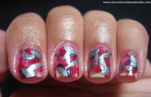 31 day nail art challenge metallic