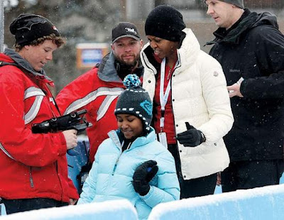 pictures of michelle obama in vail. Michelle Obama Does Her Part