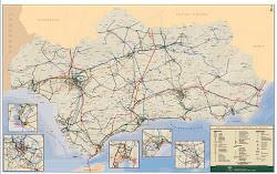 Mapa Infraestructuras de Andalucía