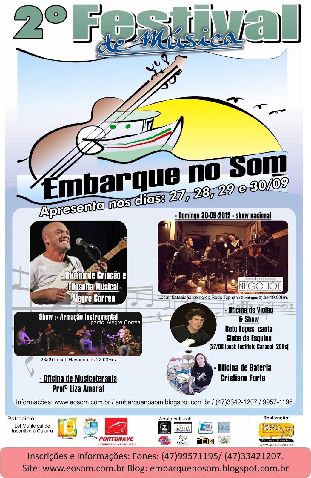 """2º Festival navegantino de música """"EMBARQUE NO SOM"""""""