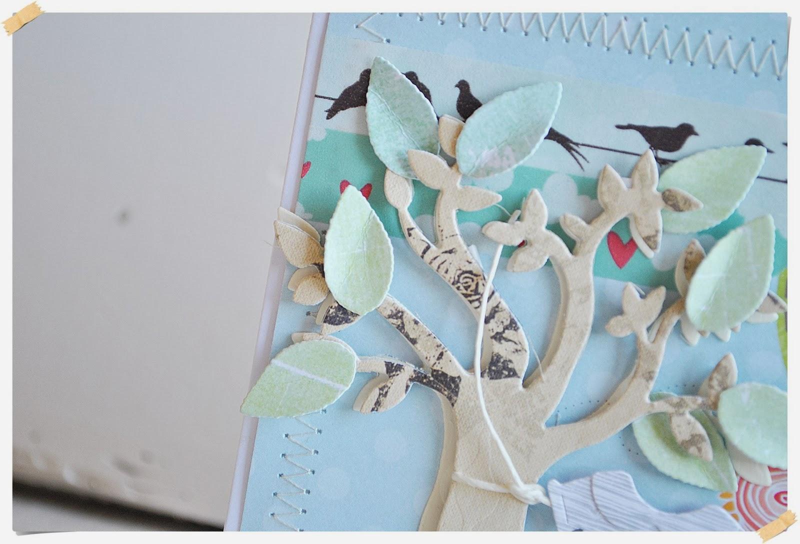 kartka urodzinowa dla dziecka scrapbooking