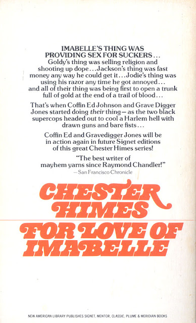 For the Love of Imabelle Back Cover - Chester Himes