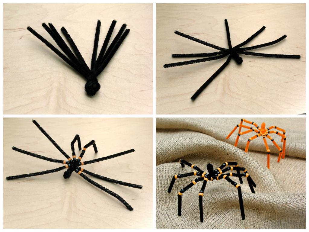 Как сделать из бумаги паука? 2