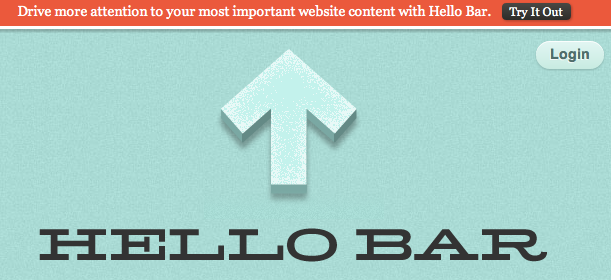 Hello Bar for WordPress Blogs