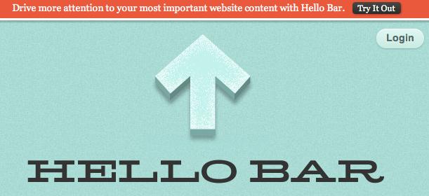 Hello Bar for WordPress Blogs