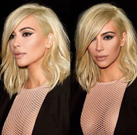 Kim Kardashian 2015 Platinum Blonde Hair