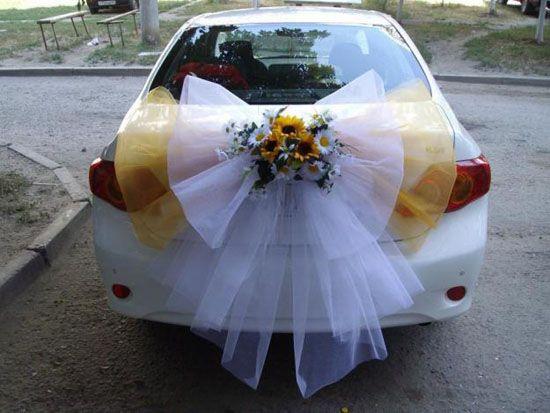 decoration voiture mariage pour invites