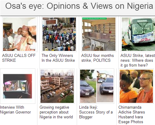 Opinions and views on Nigeria