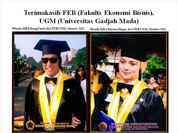 Wisuda Ikang Fawzi & Marissa Haque dari FEB UGM, 2011