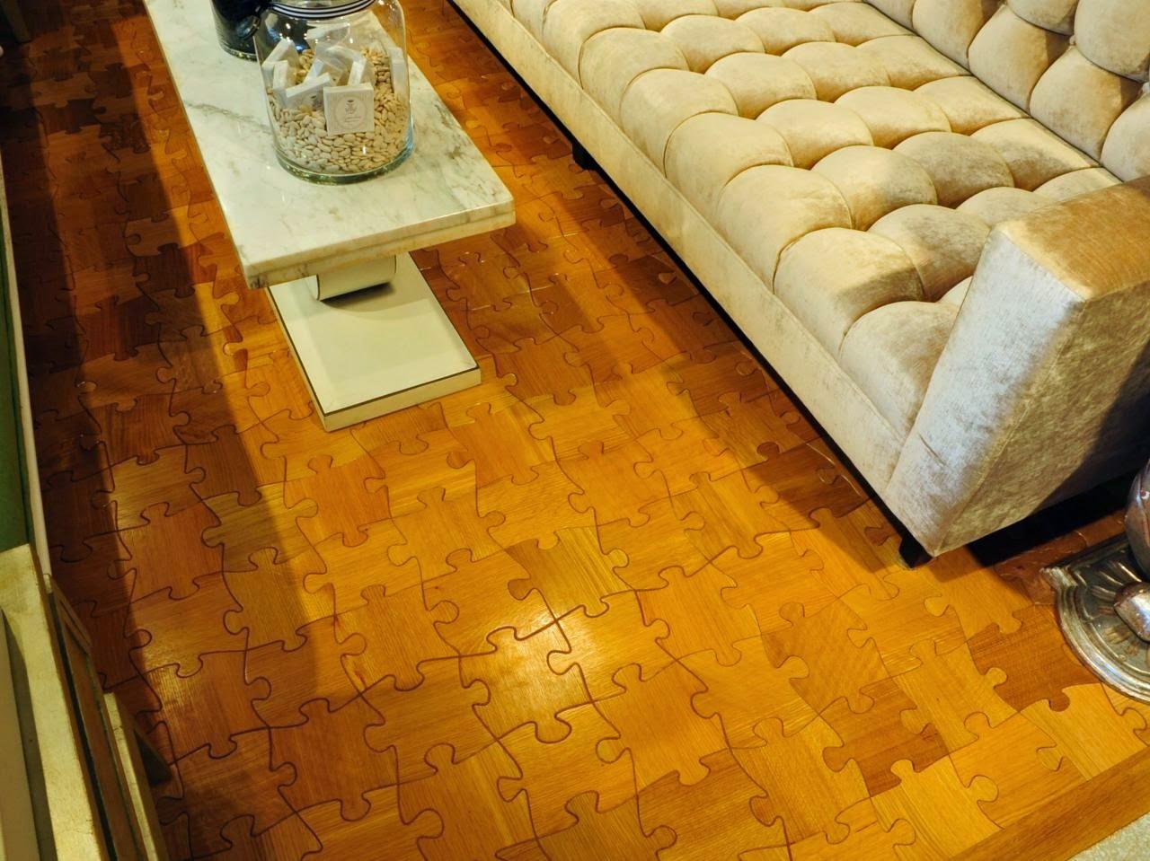 Interior Puzzle Wood Floor Design