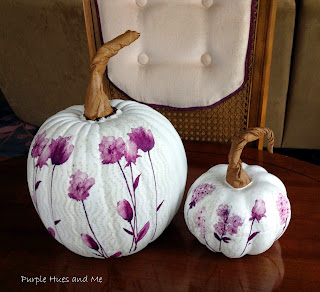 decoupaged paper napkin pumpkins