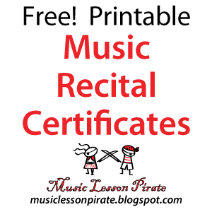 Music lesson pirate music teaching resources recital schmecital a yadclub Choice Image
