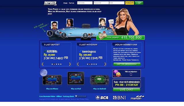 Daftar Poker Online Uang IDR Terpercaya INIPoker
