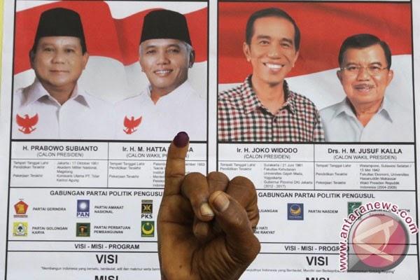 Di Kota Bandung Prabowo-Hatta Kalahkan Jokowi-JK