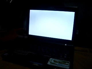 White Screen Display