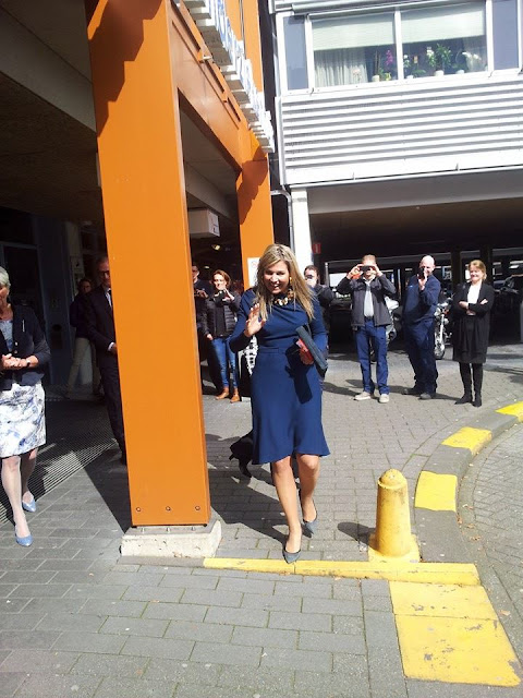 Queen Maxima of The Netherlands visited the Princess Maxima Center for pediatric oncology