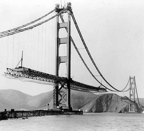 Building the Golden Gate Bridge (1933 - 1937)