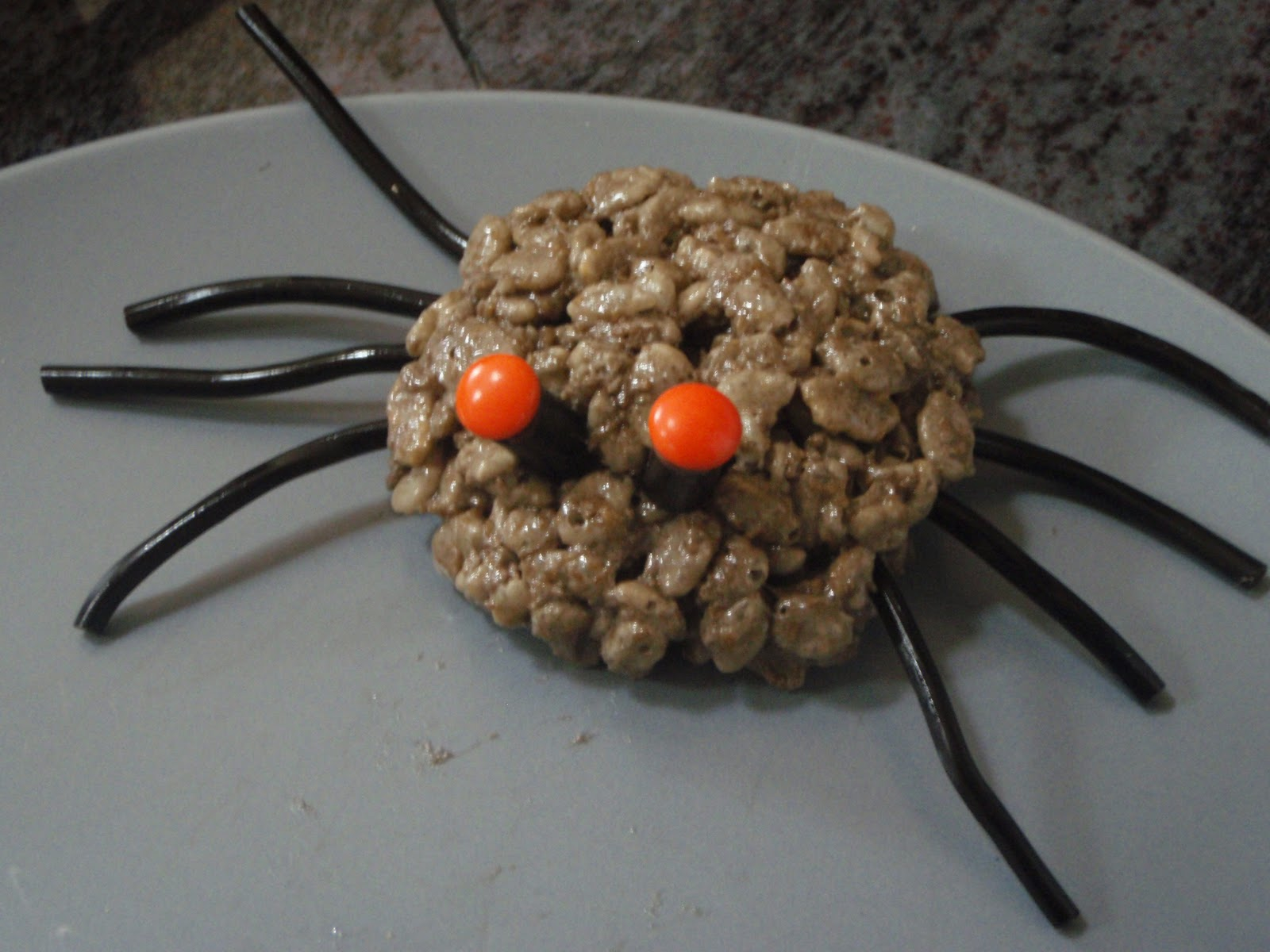 rice krispie spiders