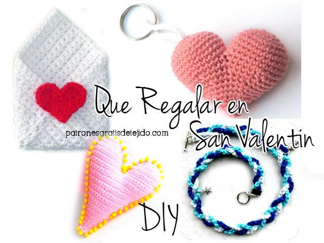 Qué regalar en San Valentín / Tutoriales de Regalos tejidos crochet ...