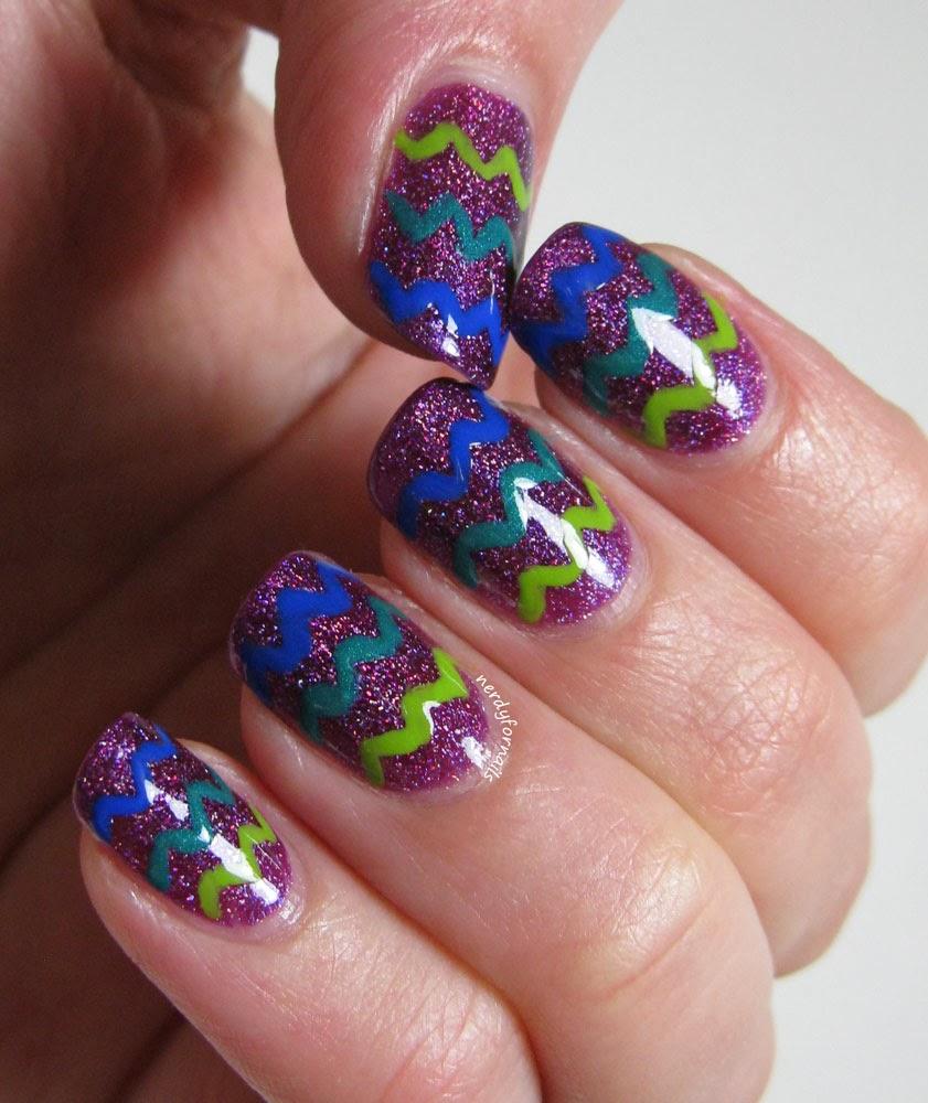Zoya Aurora Zig Zag Chevron Nails