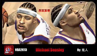 NBA 2K13 Michael Beasley Face Mod