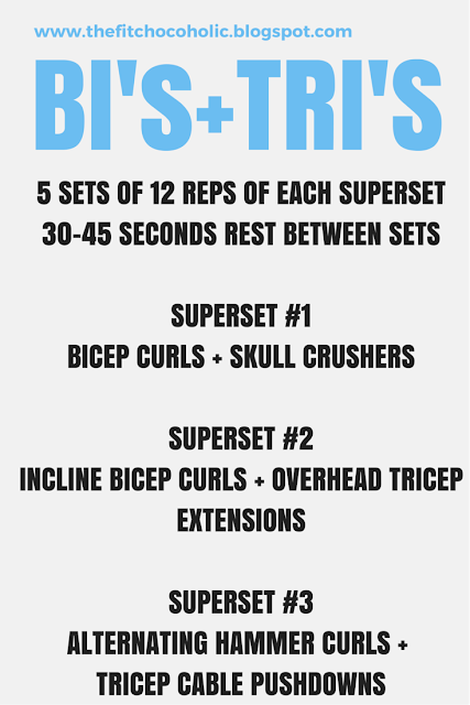 Bi's & Tri's Superset Workout