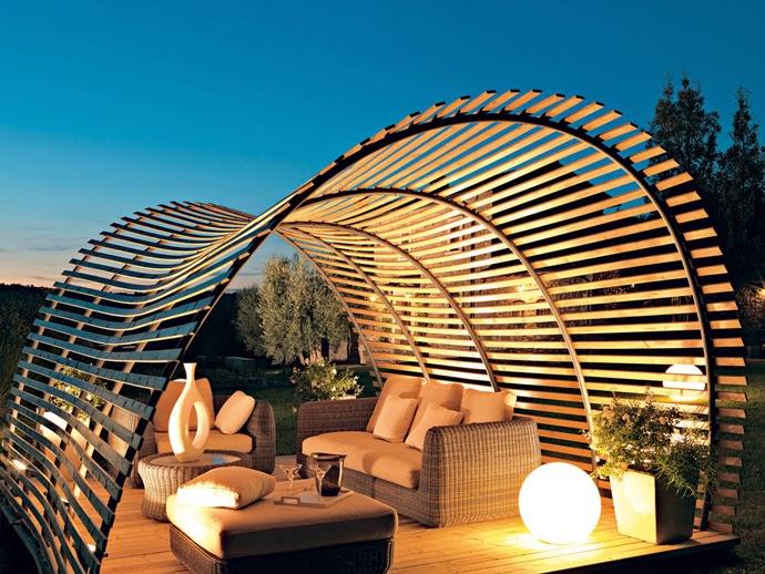 Awesome Modern Garden Pergola Design