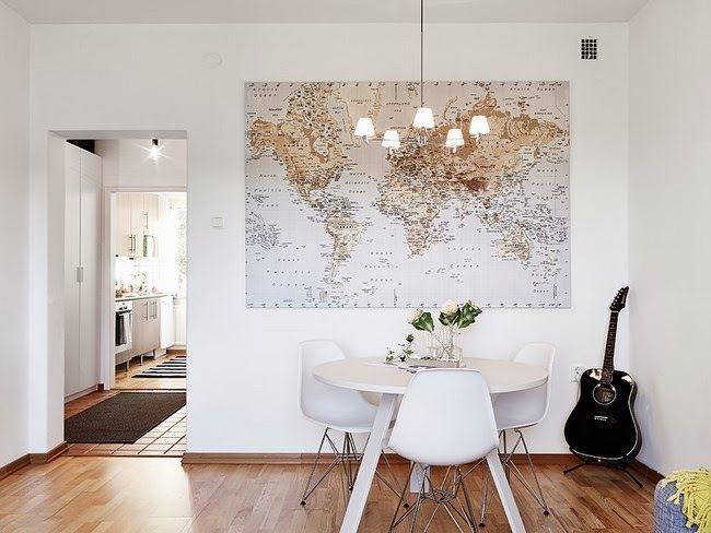 Mapa mundi - Como enmarcar un poster en casa ...