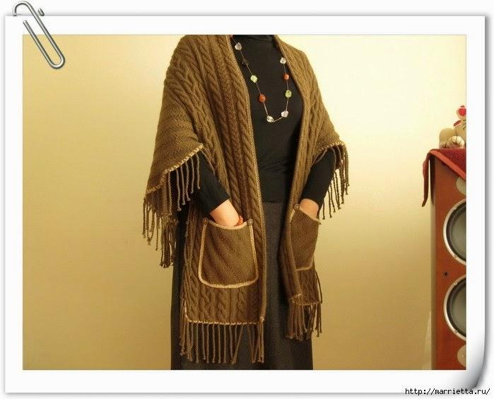 Вязание накидка-шарф