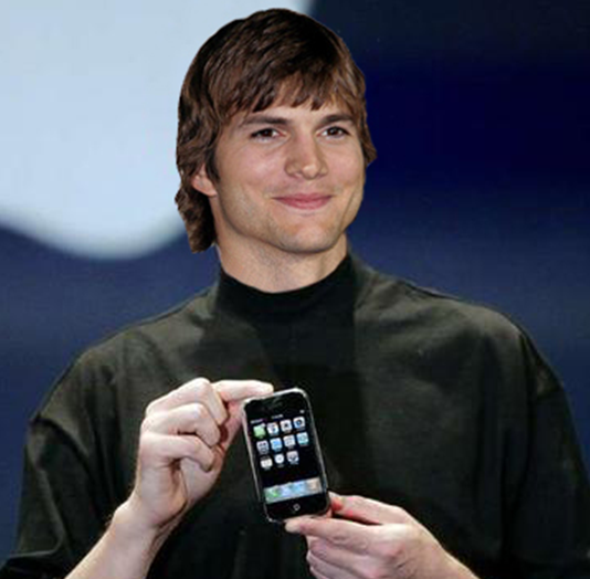 Ashton Kutcher use iPhone Smartphone