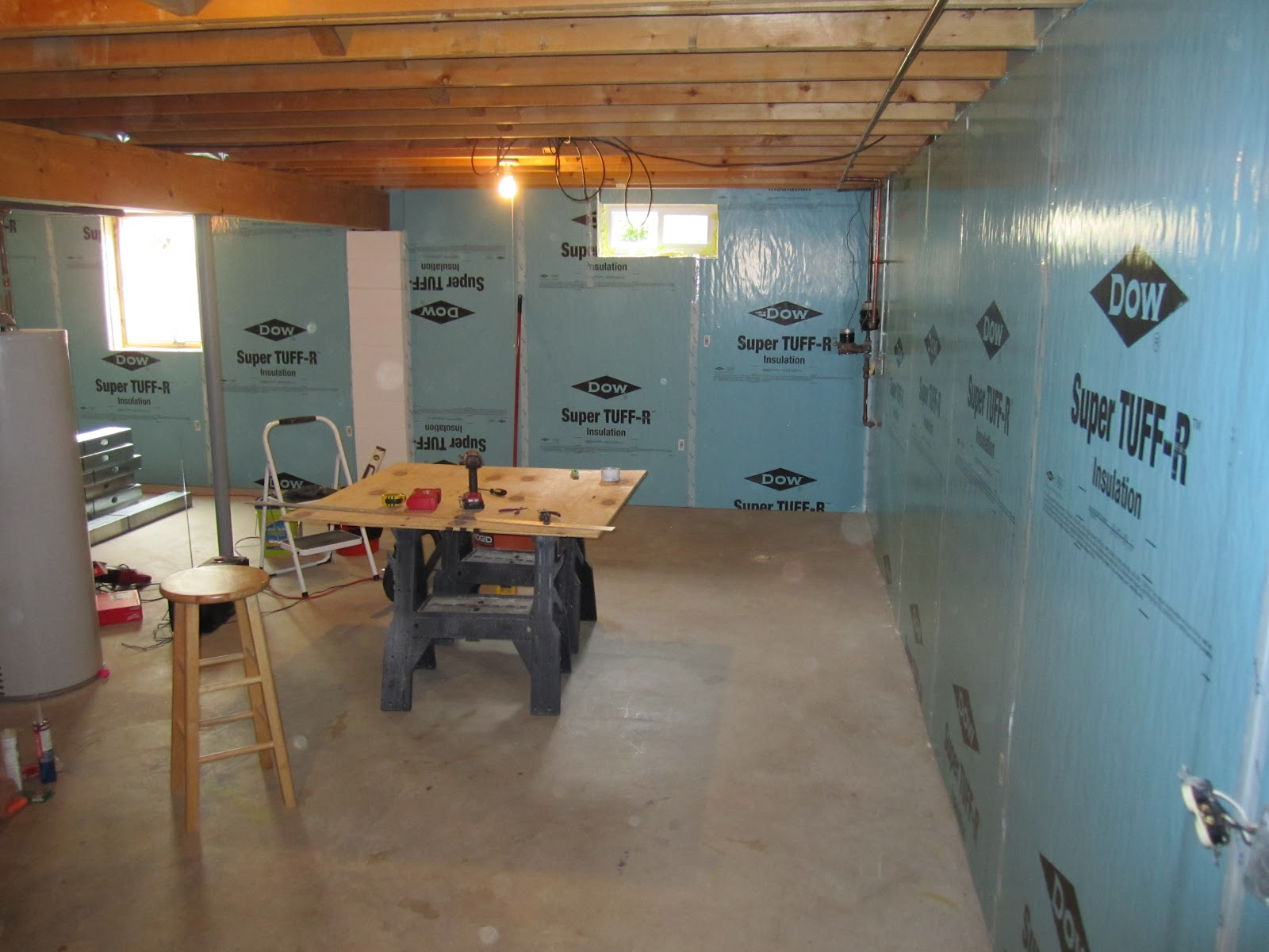 projects of plenty basement build update insulation and