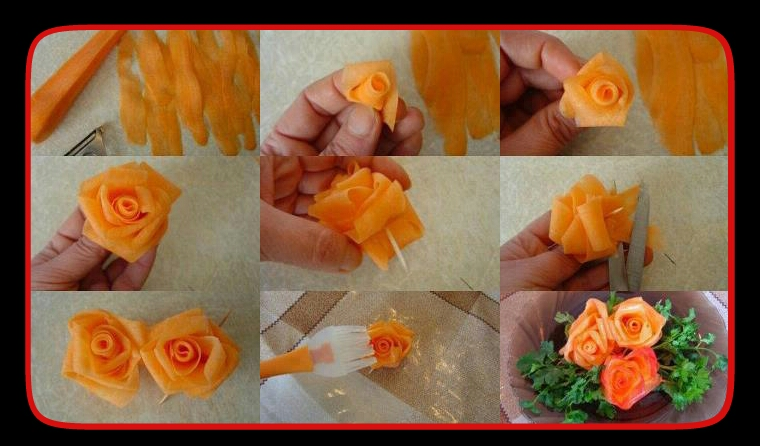 Cocina imaginativa hacer flores para decorar nuestros platos - Como decorar platos ...
