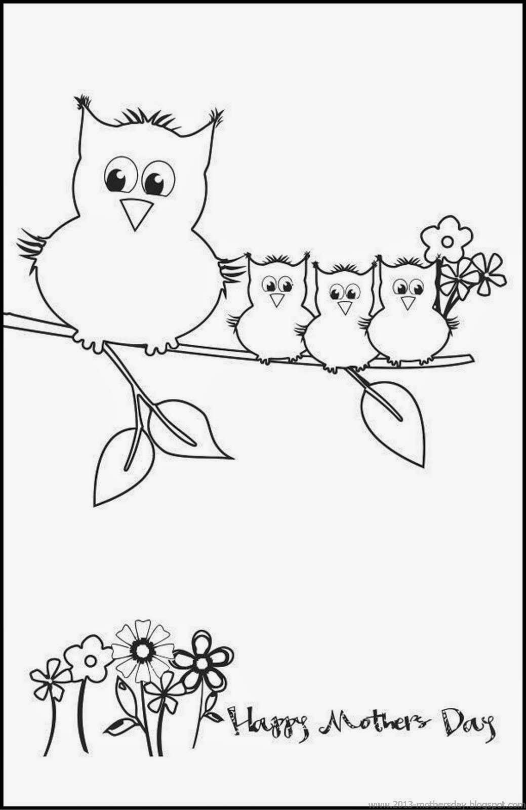 7 Printable Mothers Day Cards For Kids To Color