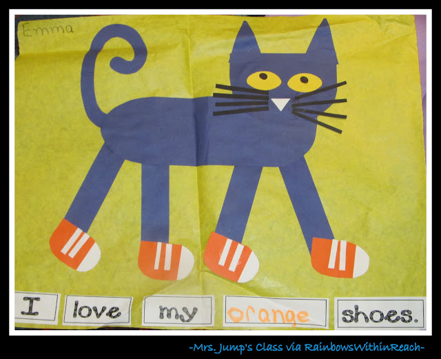 photo of: Pete the Cat Project from Mrs. Jump via RainbowsWithinReach