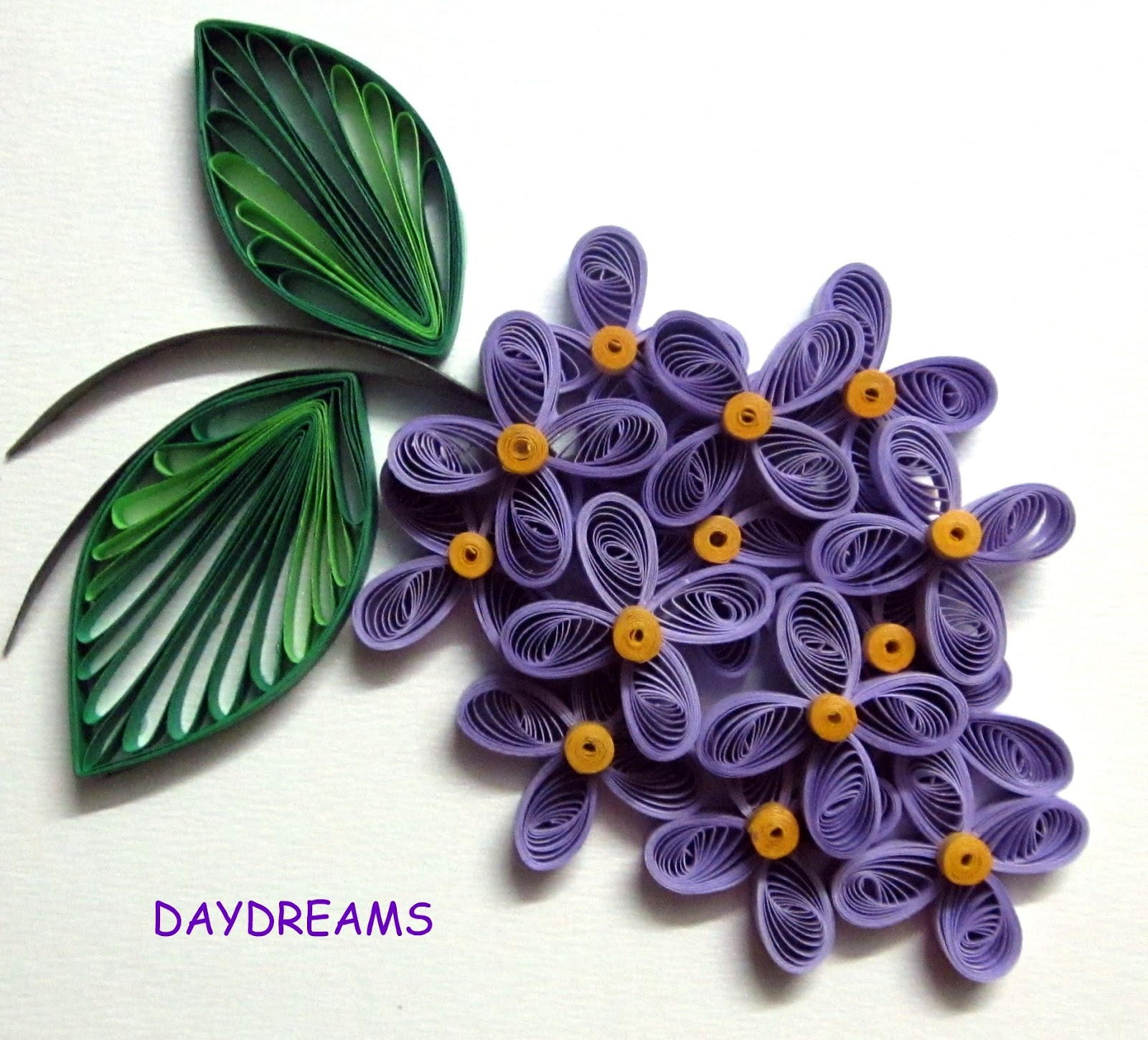 Daydreams quilled flowers for Quilling patterns