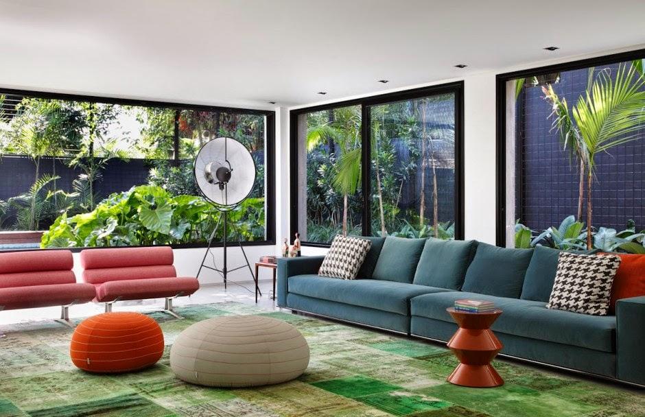 Farbenfrohe Einrichtung zum fröhlichen Wohnen in Brasilien - perfektes Lebensgefühl für den Alltag!