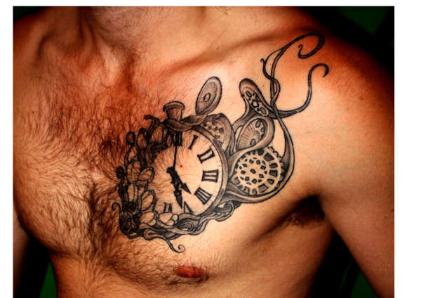 Tattoos On Pinterest Dna Tattoo Dna And Steampunk Clock