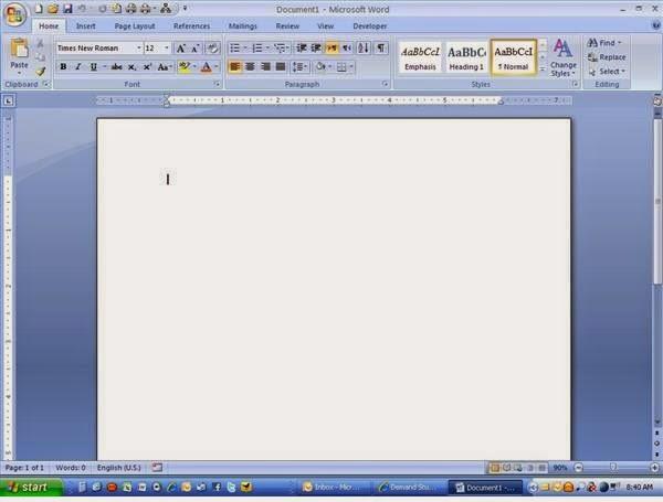 Gambar tampilan ms word