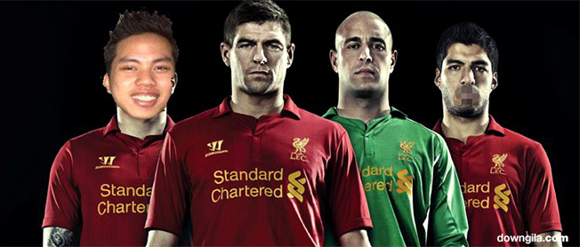 Liverpool new shirt banner