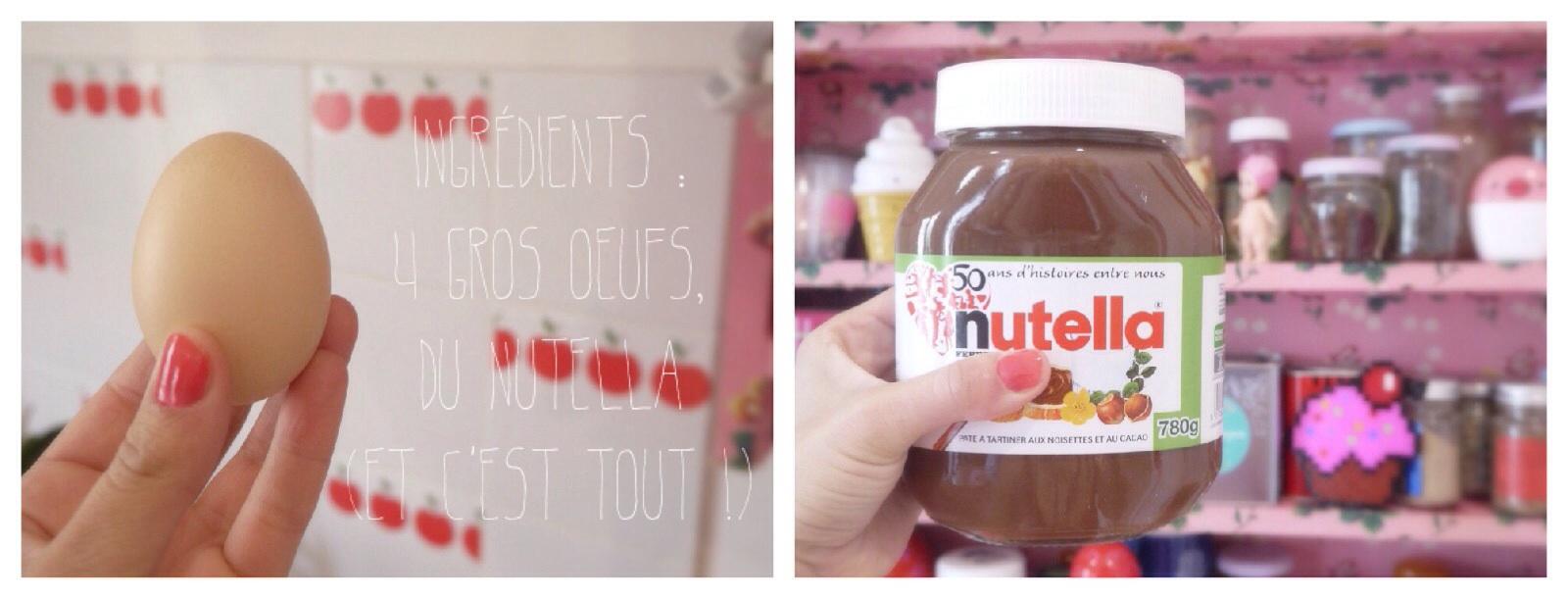 recette fondant au nutella